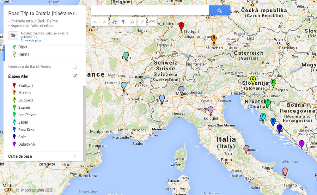 GoogleMaps-Étapes